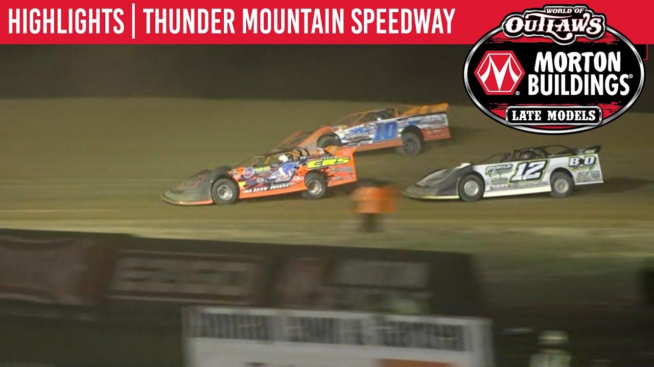 World of Outlaws Morton Buildings Late Models Thunder Mtn. Speedway September 25, 2020 | HIGHLIGHTS