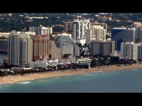 Dallas - Fort Lauderdale flight AA1302: Takeoff, Clearwater, Fort Lauderdale Beach 2016-05-18