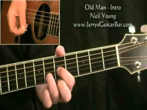 How To Play Neil Young Old Man (intro only)