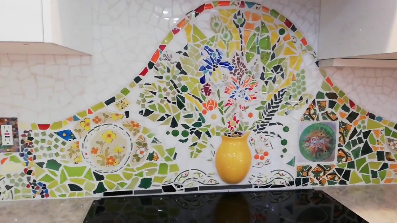 kitchen custom mosaic backsplash step by step