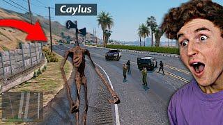 Playing As SIREN HEAD In GTA 5.. (RAMPAGE)