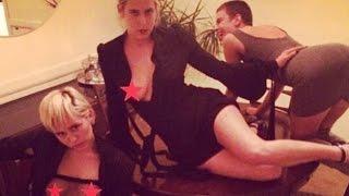 Miley Cyrus en topless junto a las hijas de Demi Moore