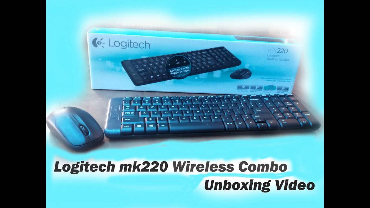 Logitech Mk220 Combo Wireless Mouse N Keyboard Unboxing Video Youtube