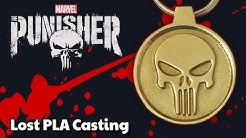 Marvel PUNISHER solid bronze pendant / key ring - Lost PLA Casting at home