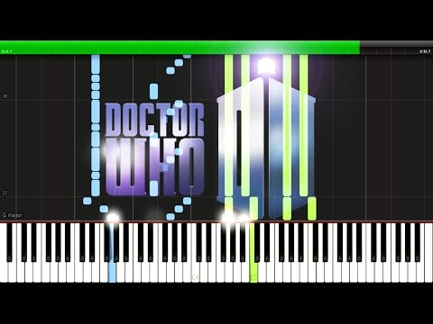 Doctor Who Main Intro Theme [Synthesia Tutorial For Two Pianos]