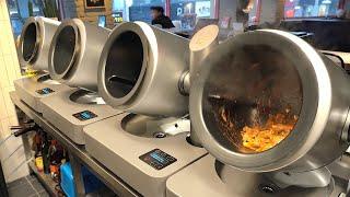 자동으로 요리해주는 로봇? 치즈 폭탄 돌판 누룽지 닭갈…