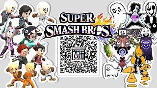 sans papyrus frisk flowey and more mii fighter qr codes for
