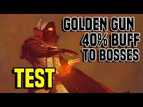Golden Gun 40% Damage Buff To Bosses - Test 1 | Destiny 2 thumbnail