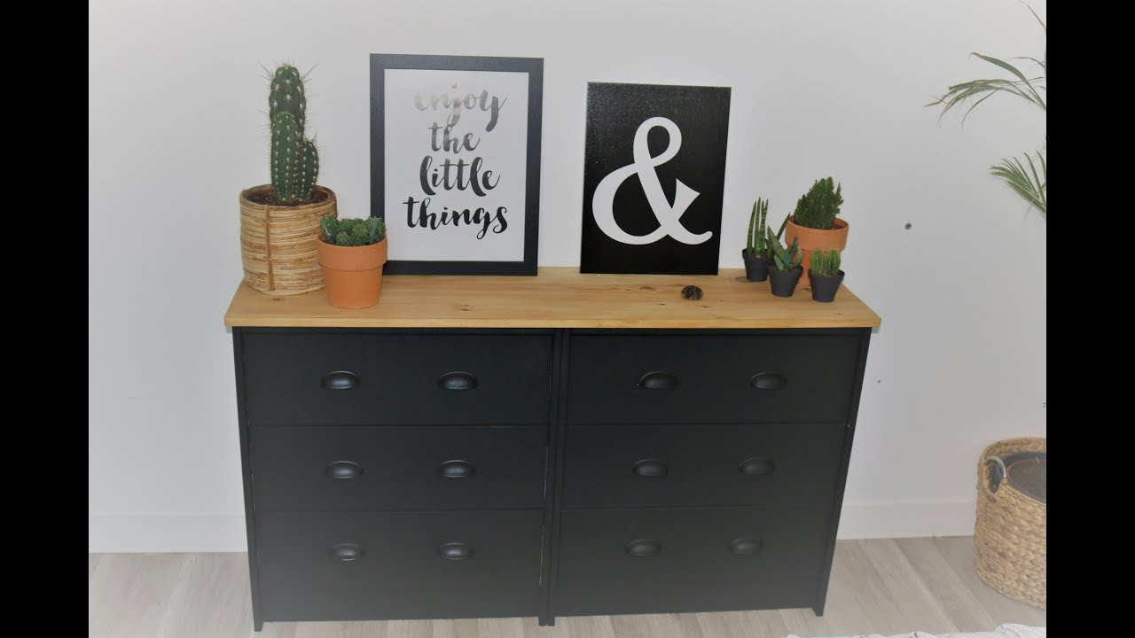 transformer un meuble ikea en meuble industriel youtube. Black Bedroom Furniture Sets. Home Design Ideas