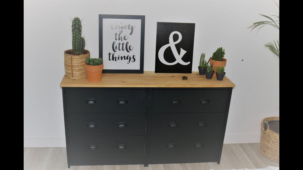 transformer un meuble ikea en meuble industriel