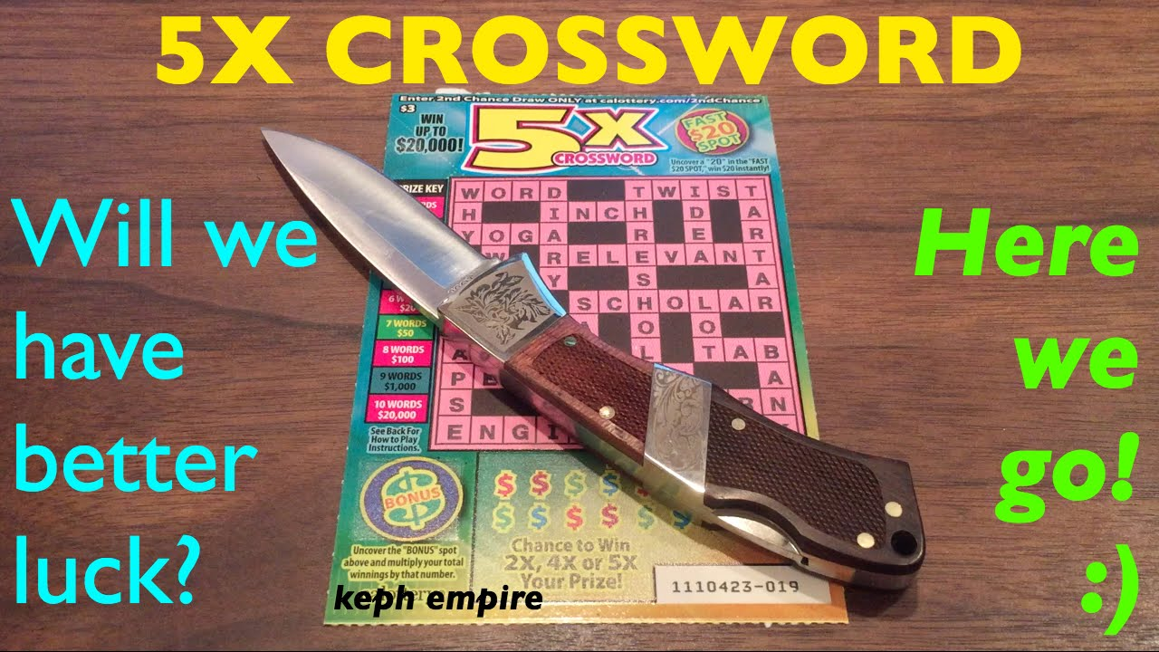NEW STRATEGY FOR 5X CROSSWORD $3 California Lottery Scratcher