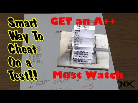 great ways to cheat on a test