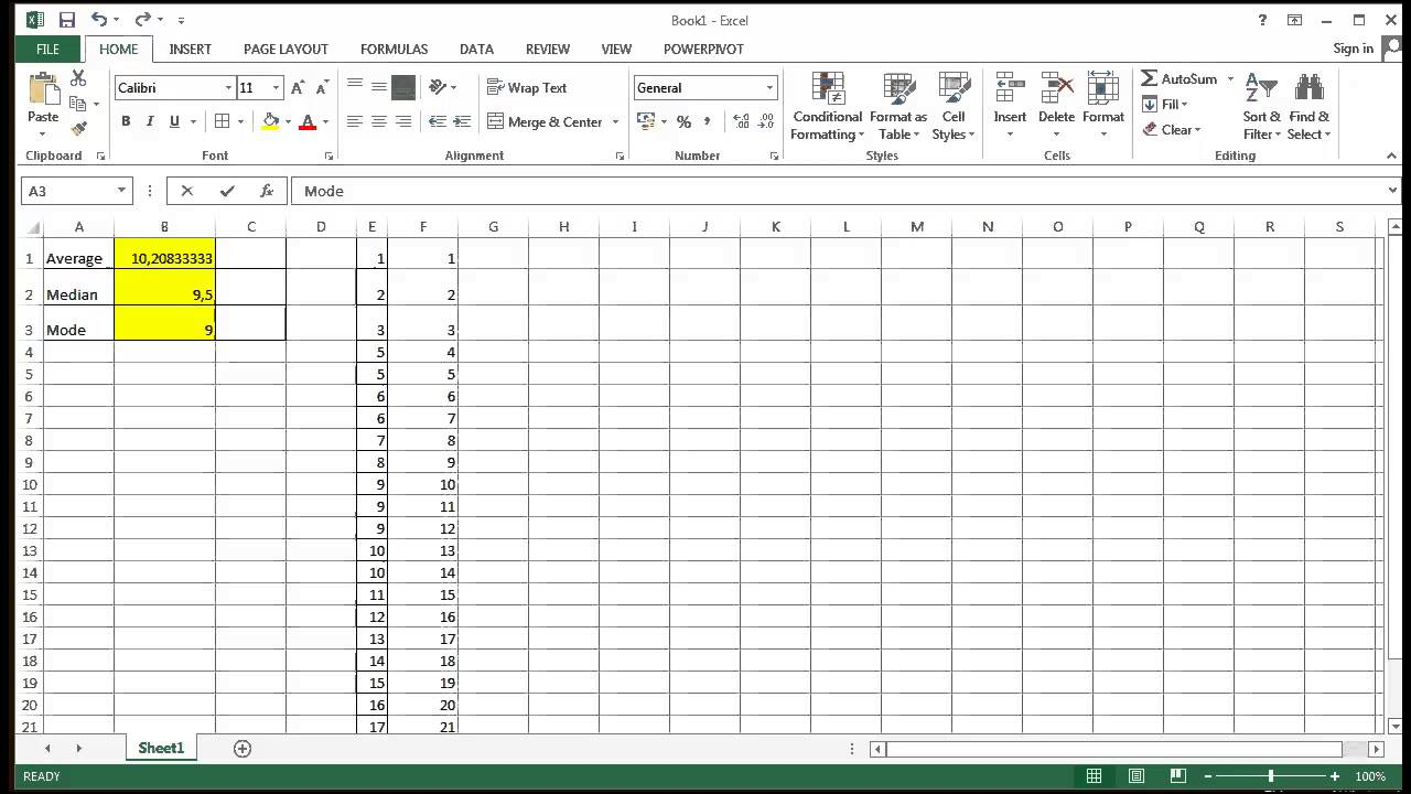 how to find variance excel