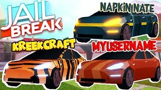 JAILBREAK MADE THESE YOUTUBERS *CUSTOM* SKINS, but where is mine... (Roblox)