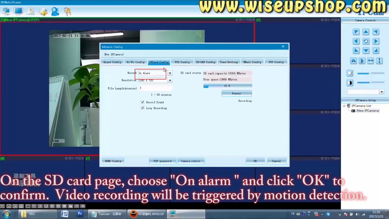 Wiseup how to login camera directly on pc model number for Https pedro camera it login