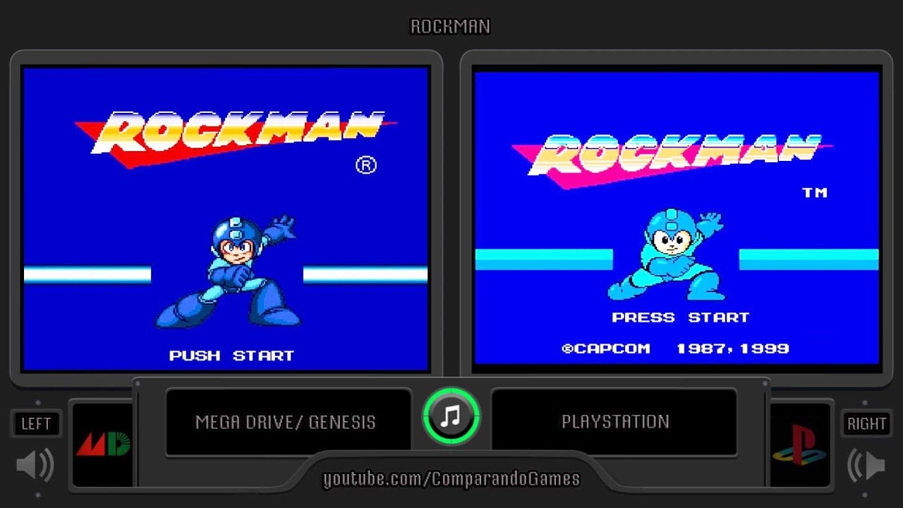 Rockman Mega Drive Vs Playstation Side By Side