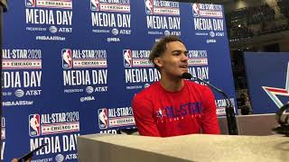 OKC Thunder - Trae Young at the All-Star Media Day