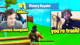 Ninja Plays Daequan the FIRST Time (Season 2 Fortnite Nostalgia)