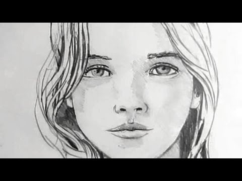 How to draw a girls face with a pencil