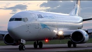 Stunning ASL Airlines Boeing 737 OO-TNO Take Off at Cambridge Airport