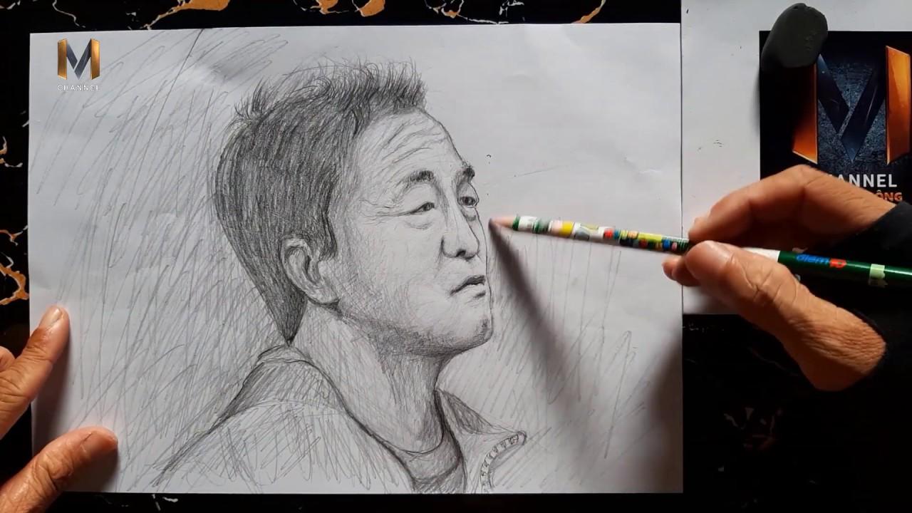 Vẽ tranh Trợ lý thầy Park – Lee Young Jin bằng bút chì tuyệt đẹp.