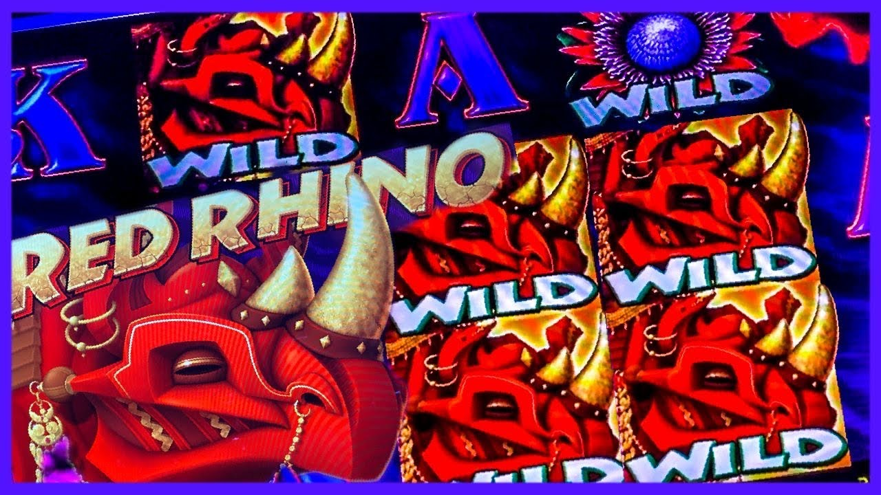 RED RHINO SLOT JACKPOT/ LOT'S OF RETRIGGERS/ FREE GAMES/ HIGH LIMIT JACKPOTS