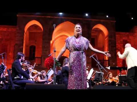 Opera DIVA Anna Netrebko at Beiteddine Art Festival Lebanon
