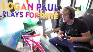 LOGAN PAUL PLAYS FORTNITE AND WINS FOR THE 1ST TIME! (FORTNITE FREE $100 V-BUCKS GIVEAWAY)