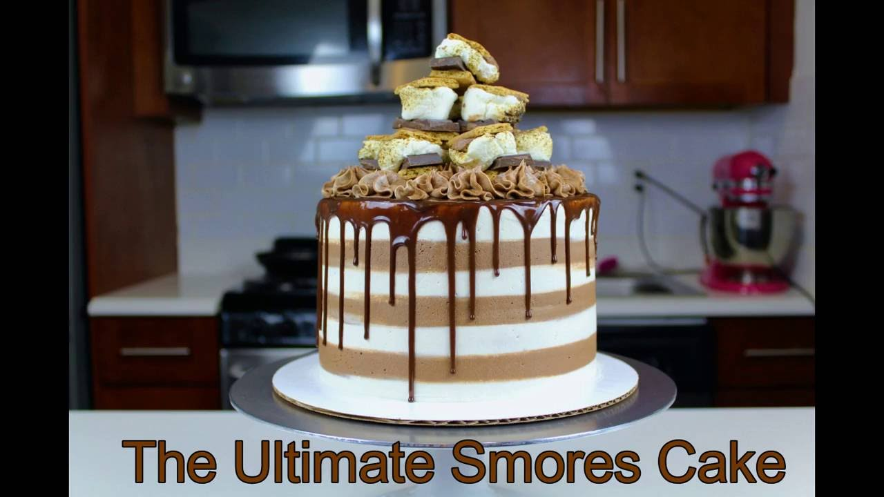 The Ultimate Smores Cake I CHELSWEETS