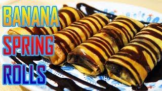 BANANA SPRING ROLLS Recipe (Resep Pisang Aroma) - How To Cook Horn BananaPlantain
