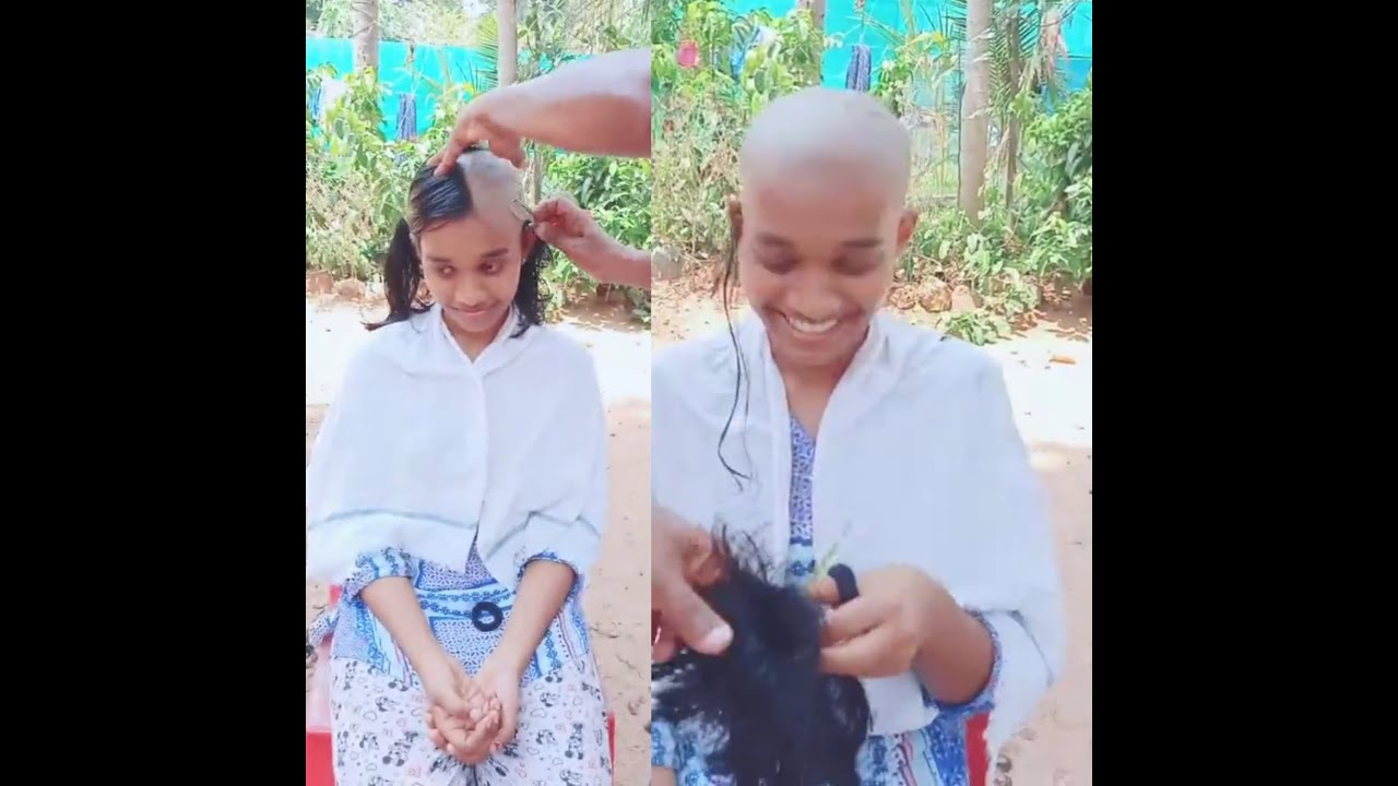 Chandini's Sister shaved her head | hair Donation | Head Shave