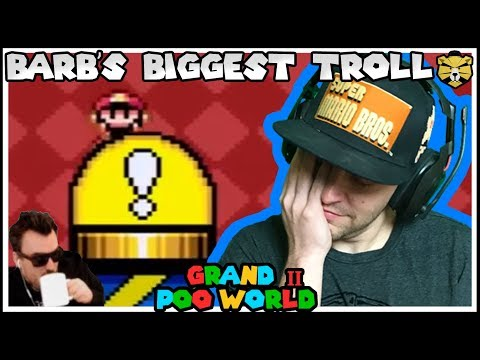 The Next Level Of Trolling! GRAND POO WORLD 2 Mario Romhack Part 10