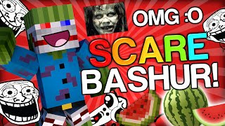 scaring bashurverse the watermelon minecraft trolling youtubers with minecraft mods scare prank