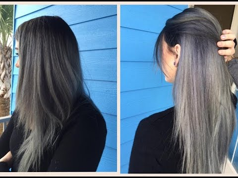 How To: Do a Dark Grey Ombre | Hair Tutorial