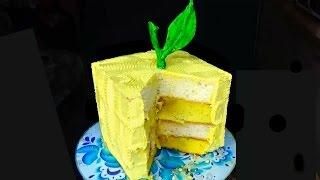 Торт с лимоном. Рецепт торта с лимоном. Крем с лимоном для торта. Идеи украшения торта.