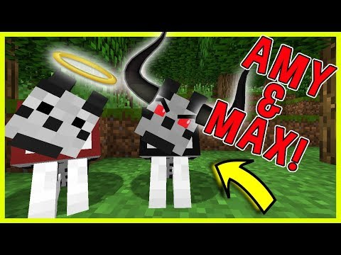 MAX HAS A EVIL TWIN! | Amy & Max! Ep.55 | Minecraft