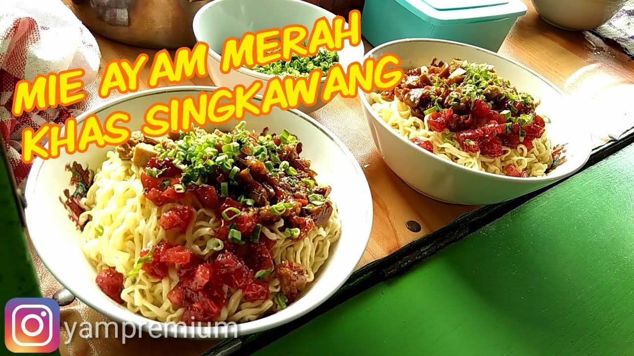 Mie Ayam Merah Khas Singkawang Info Kuliner Bandung Youtube