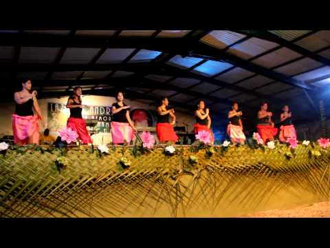 Kiribati dance 2 吉里巴斯舞蹈2 20120623 in Marshall Local Market