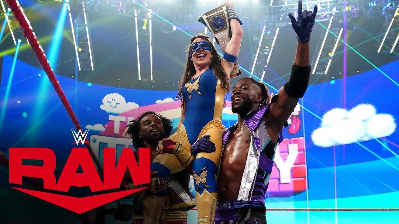 The New Day celebrate with Nikki A.S.H after her victory: Raw Exclusive, Aug. 2, 2021