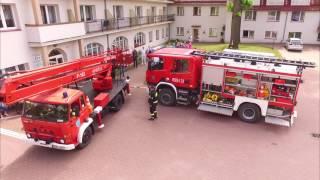 Ćwiczenia OSP w Mikołajkach