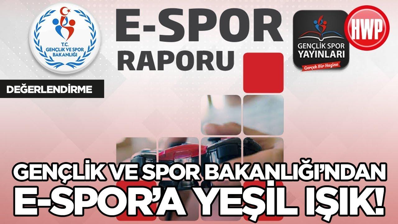 E Spor,  Gençlik ve Spor Bakanlığı'ndan E-Spor Raporu!