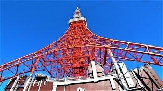 東京タワー観光 東京タワー内をソニーのアクションカム FDR-X3000で手持...