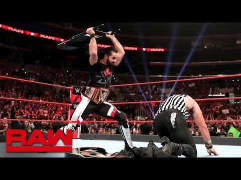 Seth Rollins blasts Elias with a steel chair: Raw, June 17, 2019