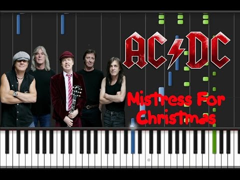 AC/DC - Mistress For Christmas Synthesia Tutorial - YouTube