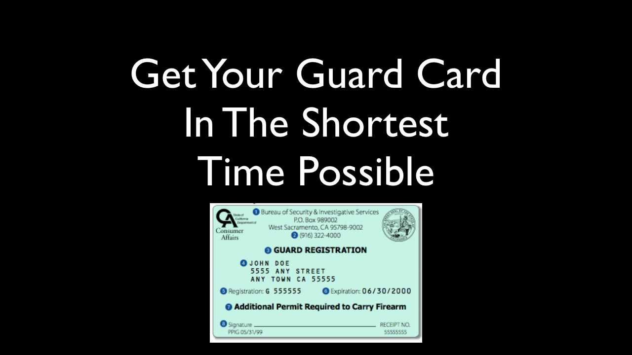 California Guard Card Requirements | Security Guard Training - Your