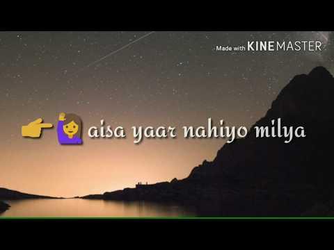 Punjabi song Yaar Ni Milya sad whatsapp status video
