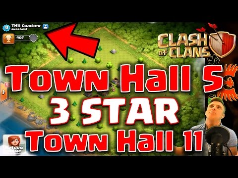 Clash of Clans  - TH5 smashes TH11. STOP CHEATING!!!