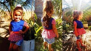 Costura blusa peplum infantil- Da série retalhos por Jonatas Verly