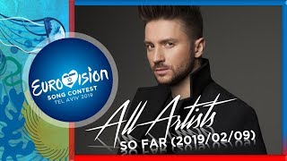 Eurovision 2019 - All Selected Artists (So Far) 2019/02/09