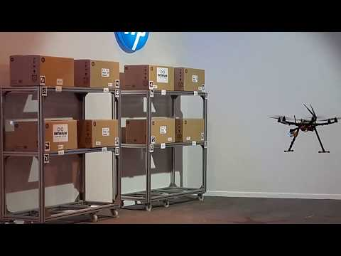 Demonstration of our Infinium Scan warehouse drone at Hewlett Packard